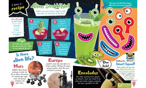 Make Alien Smoothies