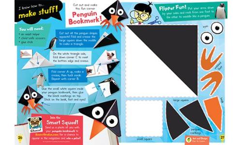 Make A Penguin Bookmark