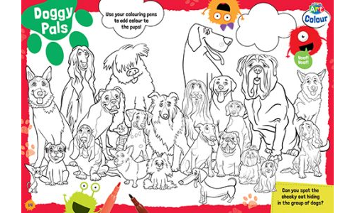 Doggy Pals Colouring