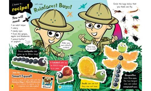 Make Fruity Bugs!