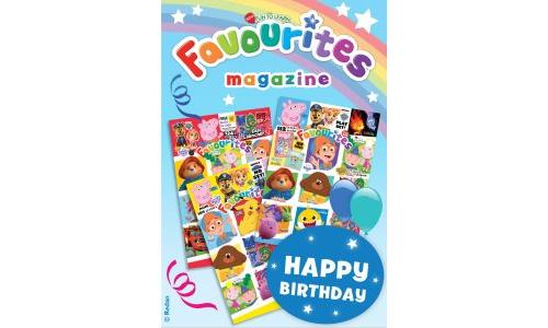 Favourites Birthday Gift Card