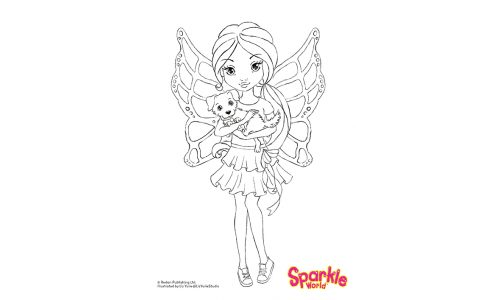 Colour Girl Fairy - Puppy